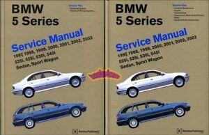 Bentley service repair manual hardcover book for bmw 5 series e39.
