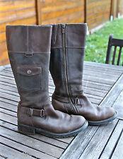 splendides bottes zippées en cuir gras leather boots TIMBERLAND size 36  5,5W