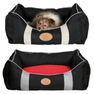 Trixie-Dog-Bed-Caya-Stylish-Black-amp-Red-Choice-Of-Sizes