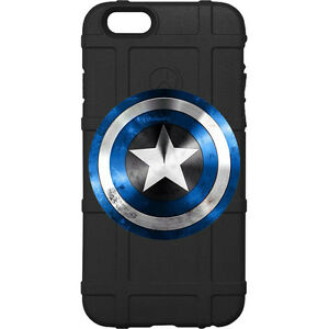 the best attitude 2125b 643a9 Details about Magpul Field Case for iPhone 6,6s,7,7+,8,8+. Blue Captain  America Shield, Police