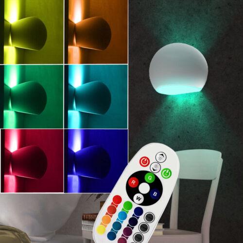 LED Keramik Wand Lampe Wohn Zimmer RGB Fernbedienung UP DOWN Leuchte dimmbar