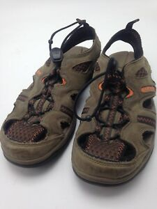 41cc2eb0e80 LL Bean Men s Sandals Water Shoes Brown Tan Orange Size 8 293678