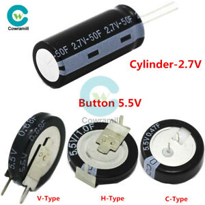 2-7V-5-5V-0-22F-50F-Super-Farad-Capacitor-C-H-V-Type-Button-Cylindrical