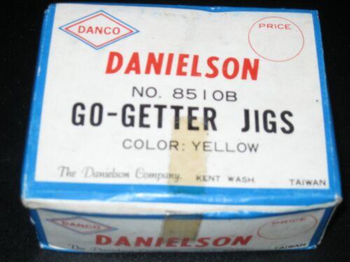 Yellow No Vintage Danielson Go-Getter salmon jigs 8510B 1Gross Ct