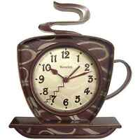 Home Kitchen Office Decor 3d Coffee Cup Time Tabletop / Wall Clock