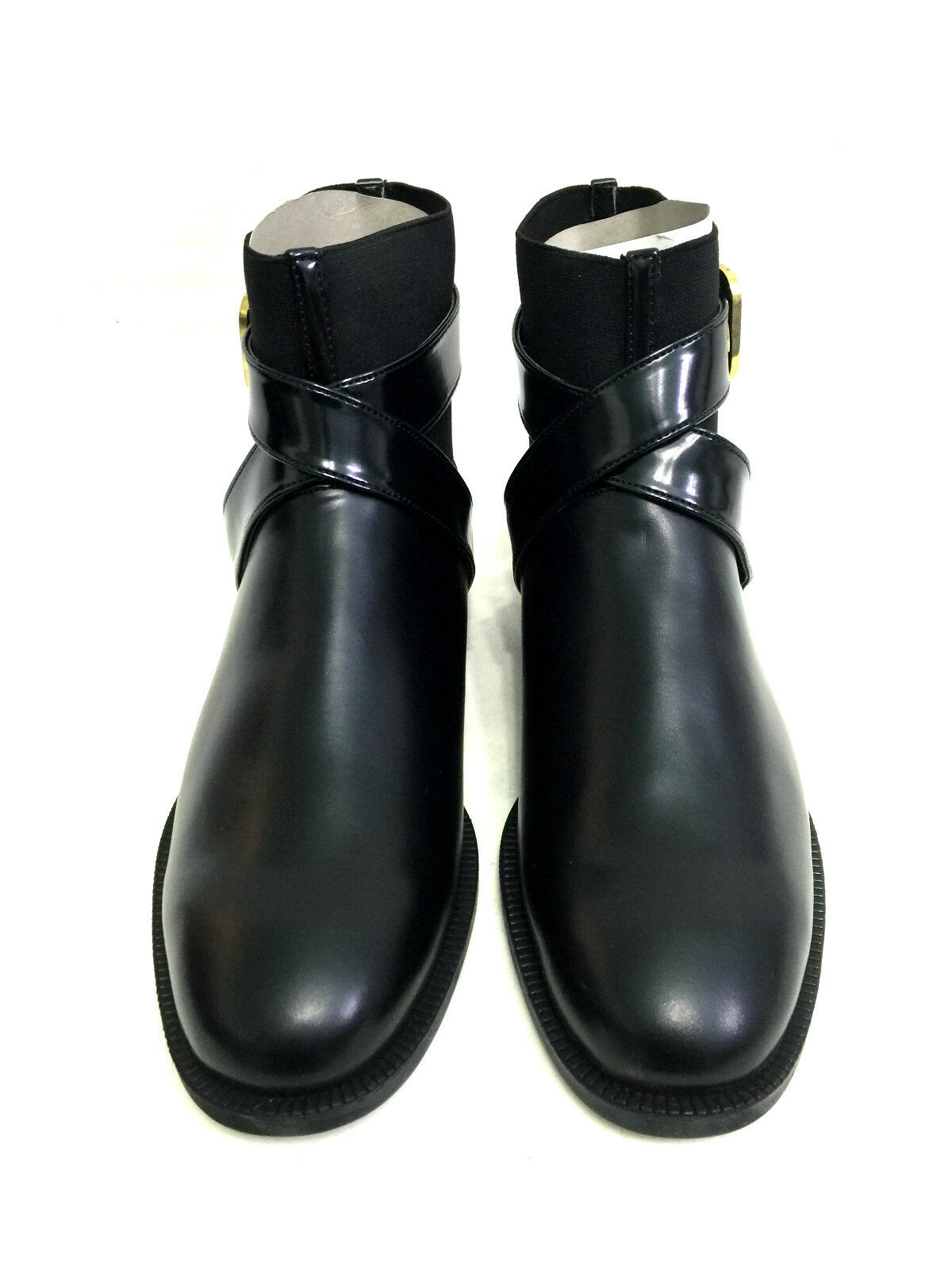 ZARA BUCKLE BLACK ANKLE BOOTS WITH BUCKLE ZARA SIZE UK7/EUR40/US9 3cfa45