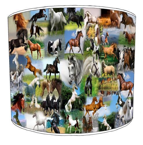 Équestre chevaux abat-jour idéal pour correspondre à Stallion Chevaux coussins et couvertures.