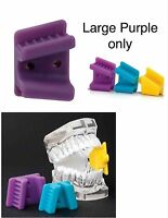 Tattoo Tongue Piercing Silicone Mouth Props Bite Blocks (2) Adult Large Purple