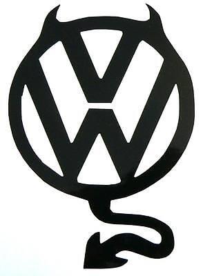 adesivo volkswagen devil auto diavolo diavoletto sticker. Black Bedroom Furniture Sets. Home Design Ideas
