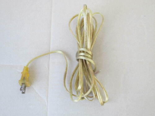 8/' CLEAR GOLD PLASTIC COVERED LAMP CORD SET POLARIZED PLUG 18//2 SPT-1