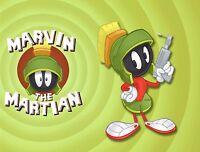 Marvin The Martian Fridge Magnet. Looney Tunes Logo......free Shipping