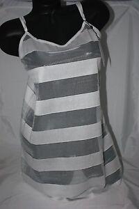 Women's Clothing Bluebella ~ Zoe ~ Chemise Slip Striped Bnwt White Uk 12 Medium High Standard In Quality And Hygiene