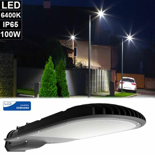 LED Straßen Mast Laterne 100 Watt Außen Fluter Lampe Hof Weg Tageslicht Leuchte