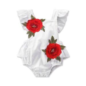 Newborn Kids Baby Girls Cotton Outfits Romper Jumpsuit Bodysuit Sunsuit Clothes