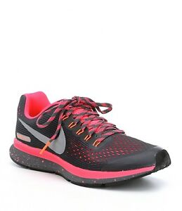 promo code 21033 5c1a6 Image is loading NIKE-ZOOM-PEGASUS-34-SHIELD-GS-DARK-GREY-