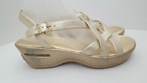 Cole-Haan-Air-Gold-Leather-Strappy-Sandals-Women-039-s-Size-8-5-M