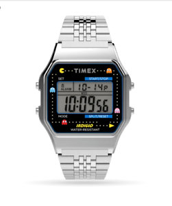 Timex-x-PacMan-T80-Silver-Stainless-Steel-Bracelet-Watch-Ready-To-Ship-NIB