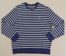 Men Polo Ralph Lauren Striped French Terry Crewneck Sweatshirt Pullover Shirt XL