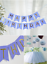 Grand-19x15CM-Joyeux-Anniversaire-Bunting-Banniere-Pastel-Hanging-lettres-Party-Decor miniature 6