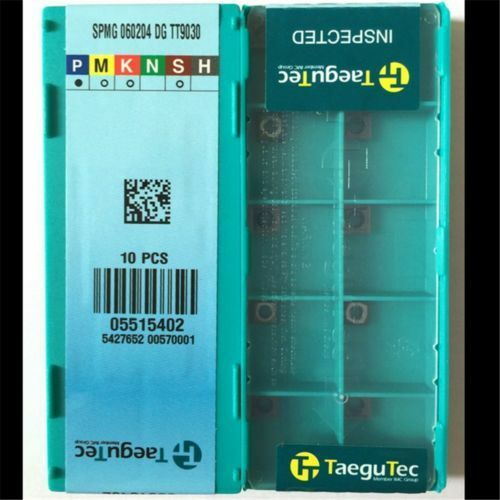10pcs NEW Drilling Blade Carbide Inserts Taegutec SPMG060204-DG TT9030