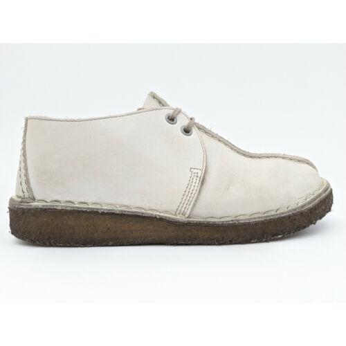 Clarks Desert Trek England White Leather Split Toe