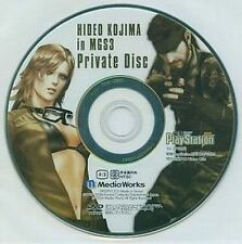 HIDEO KOJIMA IN METAL GEAR SOLID 3 JAPAN PRIVATE DISC DVD MGS RARE NFS