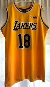 detailed look d89b3 aff89 Details about Los Angeles Lakers Wish Promo Basketball Jersey 2018-2019  Men's XL