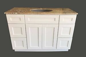Image Is Loading New White Shaker Single Sink Bathroom Vanity Base