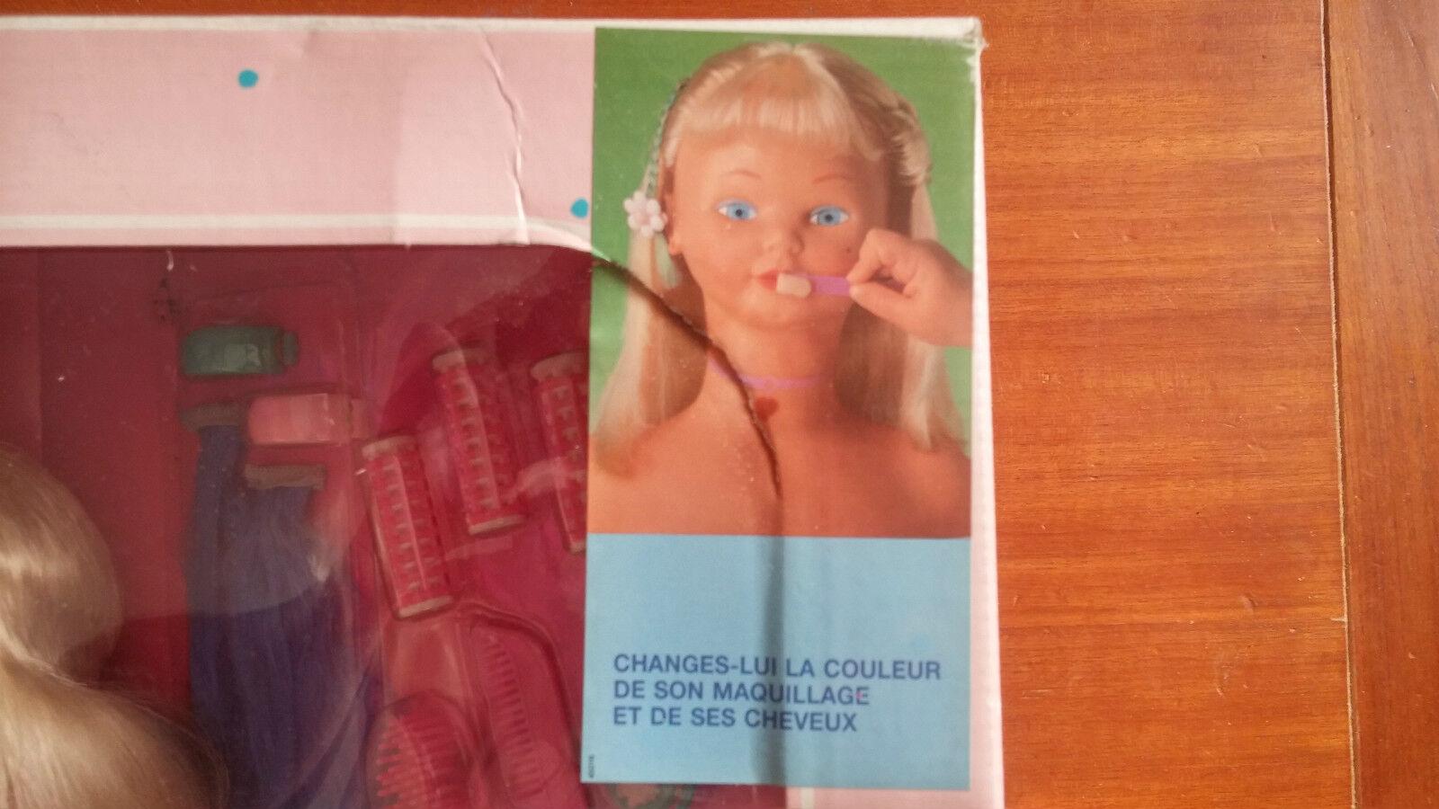 Jouet Vintage Tête De Poupée A Coiffer Coiffer Coiffer Et Maquiller Nancy  Jamais Déballer 0881b5