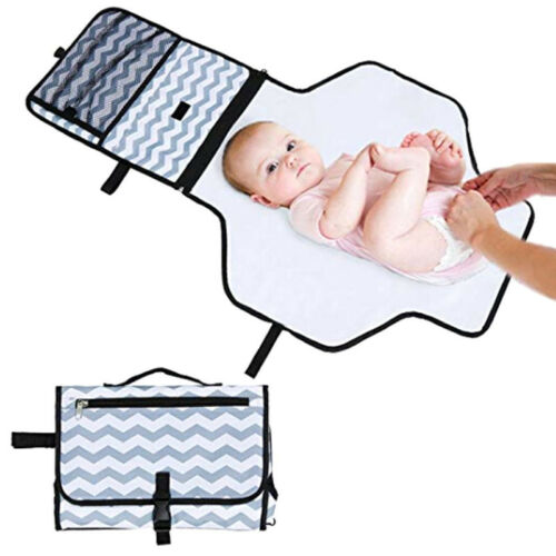 Portable Nappy Changing Mat Waterproof Travel Diaper Changing Pad With Handle