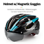 miniature 2 - Ultralight Cycling Helmet Unisex Adult Mountain Bike Bicycle Helmet with Goggles