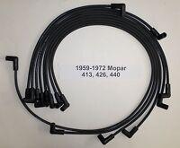 Big Block Mopar 383-400-413-426-440 1959-72 Black Hei 8mm Perf Spark Plug Wires