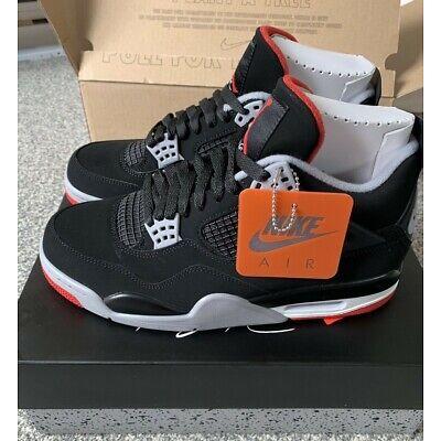 brand new 4b200 e51ac 2019 Nike Air Jordan 4 IV Retro OG Bred 3c-14 Black Cement Red 308497