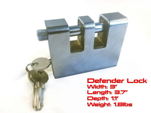 "3//8/"" Hardened Grade 100 2/' Foot Bicycle Lock Chain Defender Security Lock"