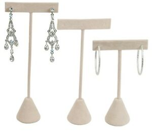 Image Is Loading Lt Hot Deal Gt Beige Velvet Earring Display
