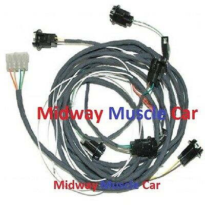rear body panel tail lamp light wiring harness 69 Pontiac ...