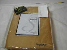 New Softline Home Fashions Lorraine Rod Pocket Panel Gold  2(55x84) NIP