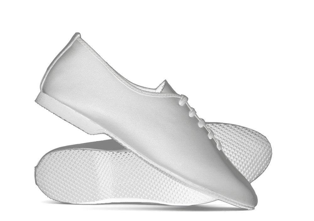 White Leather Full Rubber Sole Jazz Dance Shoe All sizes by Katz Dancewear