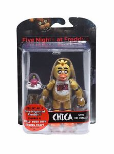 FNAF-Five-Nights-At-Freddy-039-s-Chica-Articulated-Figure-w-Mr-Cupcake-Brand-New