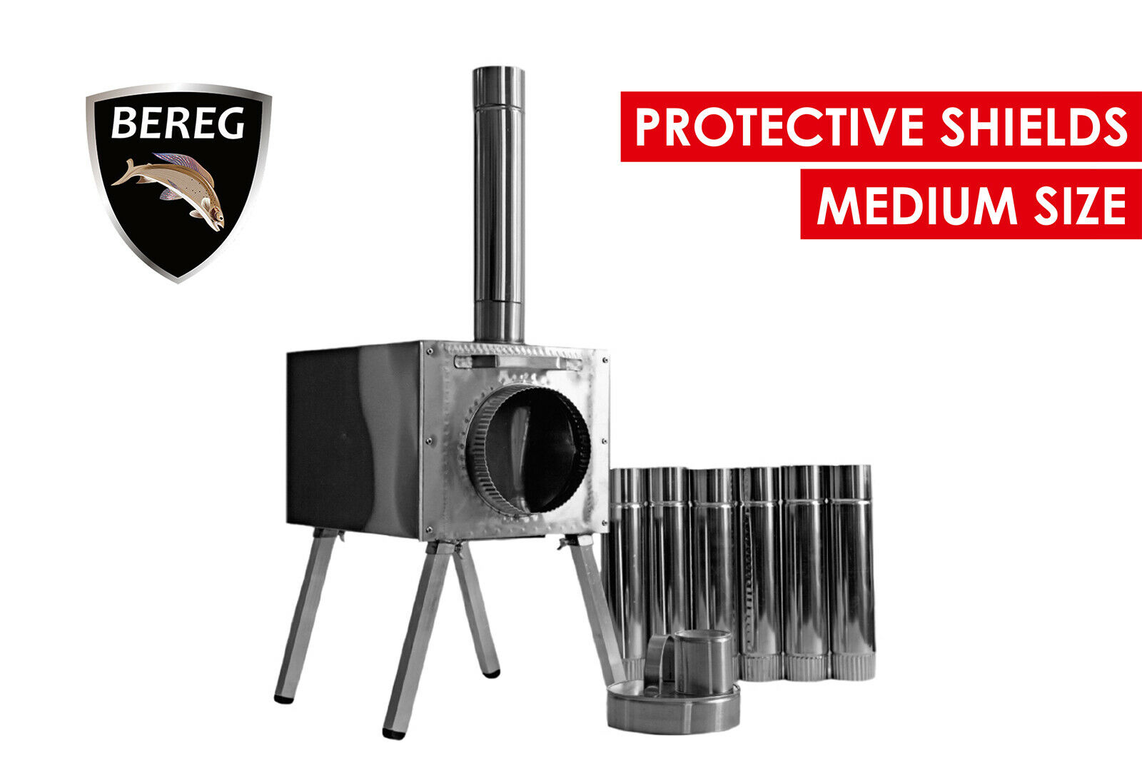 Medium Wood Stove  Economical  Bereg  for tents. Stainless steel. Safe camping  preferential