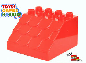 Details about *NEW* LEGO DUPLO Red Sloped Angled Shingles Shingle Roof  Brick House Barn
