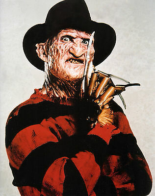 "Halloween Freddy Krueger    Photo Poster 8.5""x11""  Decoration Nightmare #1"