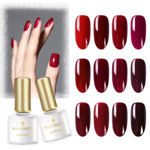 BORN-PRETTY-6ml-Soak-Off-UV-Gel-Polish-Pure-Red-Series-Nail-Art-Gel-Varnish