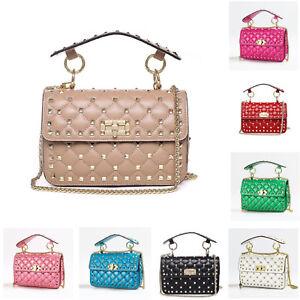 62e9bbaede84 Details about Shoulder Bag Leather European And American Trend Fashion  Rivet Handbag For Women