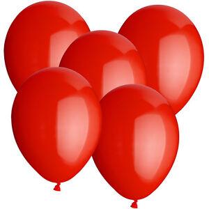 SALE-Latex-Luftballons-30-cm-rund-50-Stk-rot-Dekoballons-Raumdeko