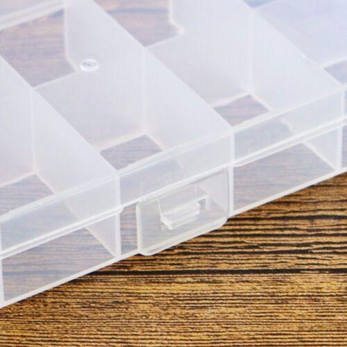 5pcs 10 Cells Slot Transparent Storage Box Cover Shell Electronics Component Box