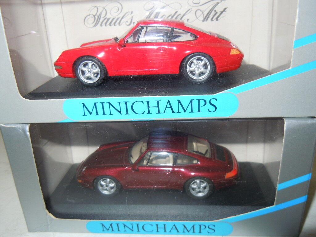 2 seltene Porsche 911 911 911 (993) Modelle von Minichamps in 1 43 OVP bd2e84