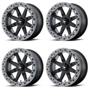 4-ATV-UTV-Wheels-Set-14in-MSA-M31-Lok2-Beadlock-Black-4-137-0mm-TER