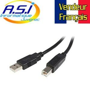 Câble USB pour Imprimante 5m USB-A vers USB-B USB2 VENDEUR FRANCAIS