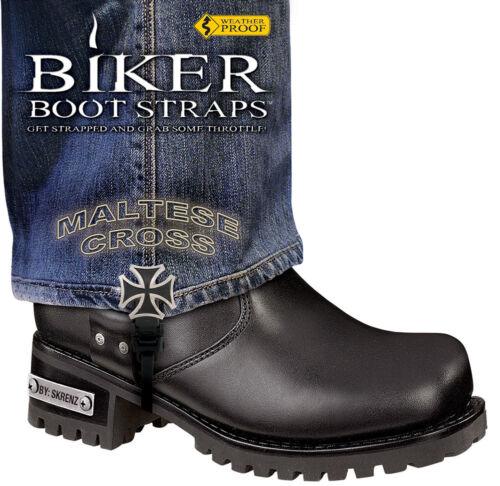 "6/"" Maltese Cross Biker Boot Stirrups"